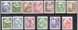 ITALIA   REPUBBLICA 1981-90 CASTELLI IN BOBINA  13 VALORI MNH ** - 1981-90:  Nuovi