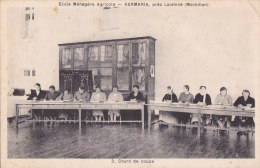 Cpa KERMARIA Près Locminé - Ecole Ménagère Agricole - Cours De Coupe - Locmine