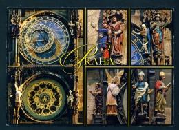 CZECH REPUBLIC  -  Prague  The Astronomical Clock  Used Postcard As Scans - Czech Republic