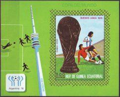 ECUATORIAL GUINEA - WM  ARGENTINA - FOOTBALL - GOLD - **MNH - 1978 - Wereldkampioenschap