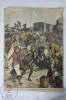 1913 Newspaper Clipping Illustration By A. Beltrame -Coal Train Robbed By People - Libros, Revistas, Cómics