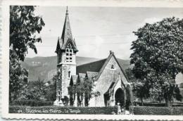 CPSM 01 DIVONNE LES BAINS  LE TEMPLE 1955 - Divonne Les Bains