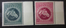 Briefmarke Drittes Reich 1944 Perd Galopprennen Michel 900 - 901 - Ungebraucht