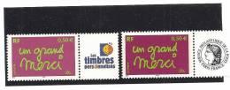 PAIRE  3637A  Logo Cérès Et Timbres Personnalisés NEUFS XX - Gepersonaliseerde Postzegels