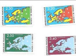 CONSEIL EUROPE  N° 104 à 107  Neufs XX - Ongebruikt