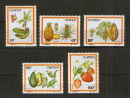 Rwanda / Ruanda 1370-74 ** Fruit / Früchte  (1987) - Obst & Früchte