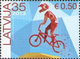 Latvia 2013 Mih. 858 Sport. Bicycle MNH ** - Lettland