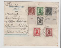 Lux142/  LUXEMBURG - Interessante Mischfrankatur Nach Frankreich 1945 - Briefe U. Dokumente