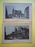 Lot De 2 Chromos N & B Chocolat Ibled  Ville D'Arras - Ibled