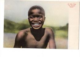 """C P A-----AFRIQUE---AFRIQUE DU SUD--A ZULU BOY """" A Gentle Smile""""---voir 2 Scans - South Africa"""