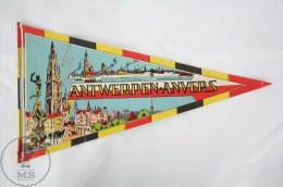 Vintage Belgium - Antwerp/ Antwerpen/ Anvers Province Collectible Pennant/ Flag - Otros