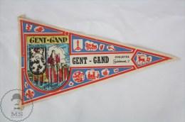 Vintage Belgium Ghent/ Gent / Gand , East Flanders Province Pennant/ Flag - Otros