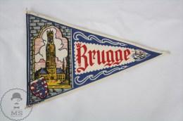 Vintage Belgium Brugge, West Flanders Province Pennant/ Flag - Otros