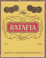 16216- RATAFIA LIQUEUR, LABEL, ETIQUETTE, POLAND - Altri