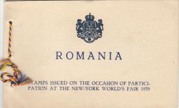 16321- NEW YORK WORLD'S FAIR 1939, BOOKLET, 1939, ROMANIA - Carnets