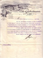 ALLEMAGNE - LAHR - ECRINS , ETALES ET CARTONNAGES - OTTO GABELMANN - LETTRE - 1921 - Allemagne