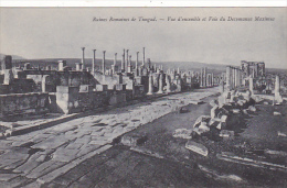 Tunisia Ruines Romaines de Timgad Vue d'ensemble et Voie du Decu