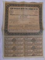 Action 1940 Credit Foncier Bresil Et De L´Amerique Du Sud 14 Mai 1940 Siege Paris  Titre Coupons - Banque & Assurance