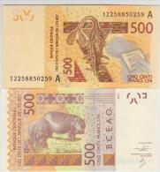 West African States 500 Francs 2012 Pick NEW Cot D'Ivoire UNC - West-Afrikaanse Staten