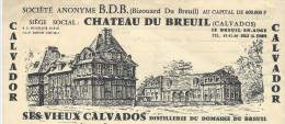 Digestif/Chateau Du Breuil/Calvador/ Vieux Calvados /Aunay Sur Odon/ 1968   FACT77 - Food