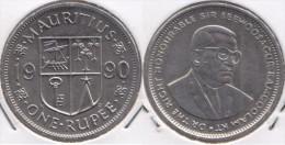 MAURITIUS 1 RUPEE 1990 - KM#55 - Used - Mauritius