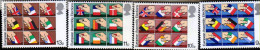 G)1979 GREAT BRITAIN, HANDS-FLAGS, EUROPEAN ASSEMBLY ELECTIONS, SET OF 4, MNH - 1952-.... (Elizabeth II)