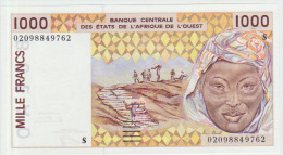West African States 1000 Francs 2002 Pick 911St UNC - West African States