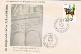 12332. Carta BURRIANA (Castellon) 1976. Iglesia San Salvador - 1931-Hoy: 2ª República - ... Juan Carlos I