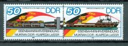 DDR - Mi-Nr. W Zd 692 Eröffnung Eisenbahnfährverbindung Mukran Postfrisch - [6] República Democrática