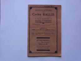 Catalogue Manufacture Des Cycles BALLIS Saint-Etienne - Cyclisme