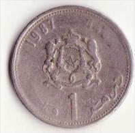 1 Dirham 1987 - Y88 - Marruecos