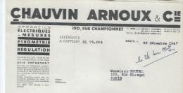 Appareils Electriques De Mesure /Chauvin Arnoux Cie /Radio Controleur /Paris /1947      FACT86 - Electricity & Gas
