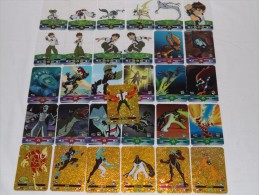 C46 BEN 10 TEN TRADING GAME CARDS LOTTO DI 31 CARTE LAMINCARDS - Altri