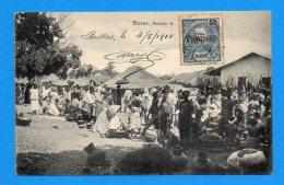 Cpa Guinée Bissau 1910 - Le Marché - Guinea-Bissau