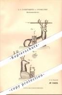 Original Patent - G.A. Langensiepen In Düsseldorf , 1881 , Tintenbehälter , Tintenfass , Hirsch !!! - Tintenfässer