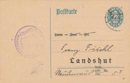 LANDSHUT - 1921 , Dienstpostkarte - Bavaria