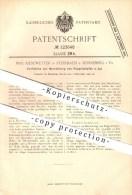 Original Patent - Max Kiesewetter In Steinbach B. Sonneberg I. Th. , 1900 , Herstellung Von Puppenköpfen , Puppen ! - Puppen