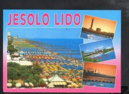 P1001 JESOLO LIDO ( Venezia ) Multipla, Vedute - 9915 Ed. Mag. FAVALLI _ PRO.GRAS - Annullo Venezia 1999 Verso AUSTRIA - Italia