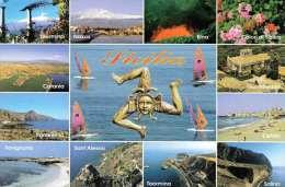 SICILIA - Mehrbilderkarte, 2 Fach Frankiert - Unclassified