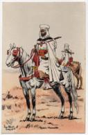Illustration Signée Pierre Albert LEROUX - Spahis Marocains - Personajes