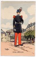 Illustration Signée Pierre Albert LEROUX - Ecole Saint-Cyr - Personnages