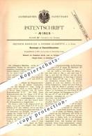 Original Patent - Heinrich Raspiller In Fenner Glashütte A.d. Saar / Völklingen , 1881 , Glas-Schleifmaschinen , Fenne ! - Saarbruecken