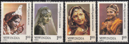 India MNH 1980, Set Of 4, Brides In Traditional Costume, Bride, Women, Culture, Mineral, - Inde