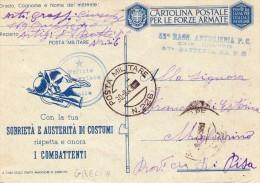 ITALIA   Posta Militare  226    Corsica   Del  30 - 8 - 1943 - Zonder Classificatie