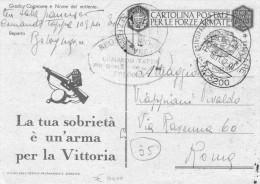 ITALIA   Posta Militare  3200  Sezione Ferroviaria    Punti  13   Del  18 - 11 - 1942 - Zonder Classificatie
