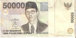BILLETE DE INDONESIA DE 50000 RUPIAH DEL AÑO 2003  (BANKNOTE) - Indonesia