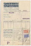 1958 PACCHI CONCESSIONE L. 40 + 60 MATRICI 2.8.58 SU BOLLETTA TRASPORTI OTTIMA QUALITÀ (A487) - 6. 1946-.. Repubblica