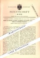 Original Patent - Charles Couppé à Romorantin , Loir Et Cher , 1881 , Machine Pour Le Soudage Et Bouleversant !!! - Romorantin