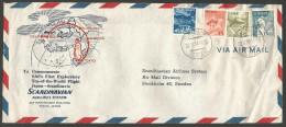 Aérophilatélie - Japon - Scandinavian - SAS's First Flight Japan- Scandinavia / Tokyo-Shemya-Fairbanks-Bobö-Oslo - Japon