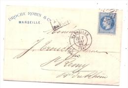 Facture Timbrée Empire  Pour L'enveloppe Facture Abimée Roche Et Abraham Marseille - Francia